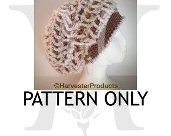 Mirkwood Glen Crocheted Textured Slouch Hat Pattern for Women