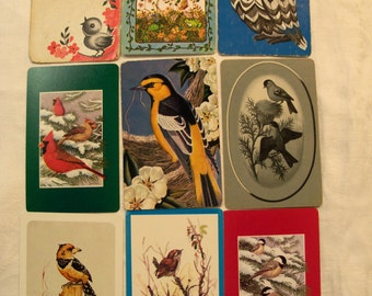 9 Playing Cards, Playing Card Swap, Bird Playing Cards, Playing Card Lot, Owls