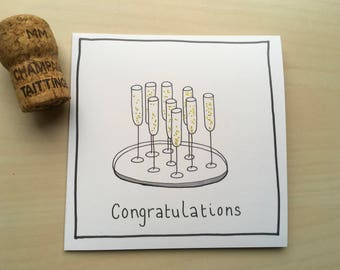 Congratulations Illustrated Greetings Card