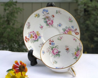 Vintage Minton Floral Cup and Saucer