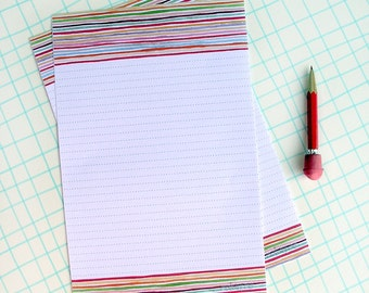 Watercolor Letter Writing Paper, Stationery Sheets