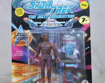Vintage Star Trek The Next Generation Action Figure Playmates Lt Commander LaForge As A Tarachannen III Alien #6070 6033 1994 - Picard