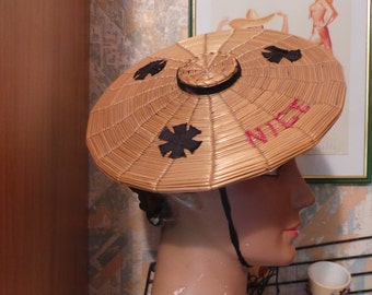 Nice full costumes, black silk apron painted manually year 1950 s more Hat without the bag