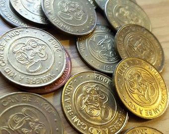 Vintage Chucky Cheese Coins