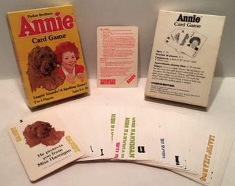 Vintage Parker Brothers Annie Card Game Little Orphan Annie Card Game, Spelling Card Game, Leapin' Lizards, Complete FREE SHIPPING