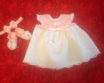 Newborn Baby Girl Dress Set - Bring Baby Home Pink