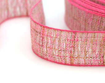 Hemp 2.5 cm wide ribbon