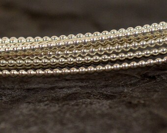 18ga Beaded Sterling Silver Wire - 18 Gauge - Dead Soft - Choose Your Length