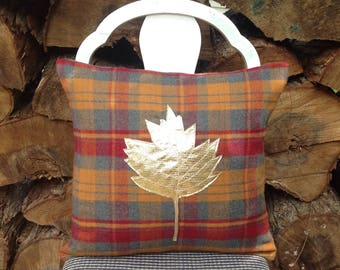 Fall Pillow Cover, Fall Decoration, Holiday Pillow, Fall Decor, Plaid Pillow, Throw Pillow, Autumn Pillow, Decorative Pillow Cover