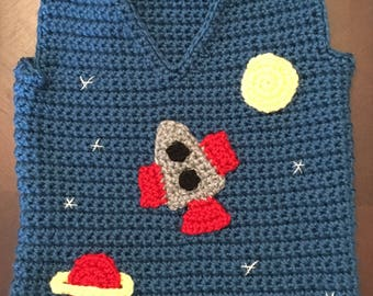 Outer Space Baby Vest