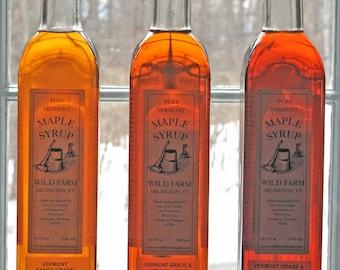 250ml Wild Farm Pure Vermont Grade A Maple Syrup