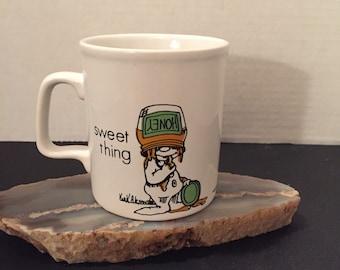 "Kiln Craft Mug 1978 Fedora & Friends, Kirk Alexander ""Sweet Thang"""