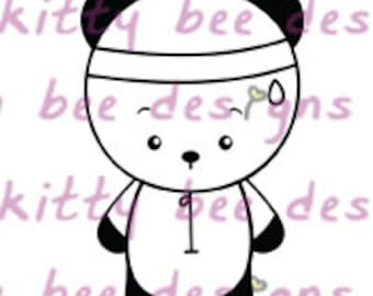 Gym Panda Digital Stamp