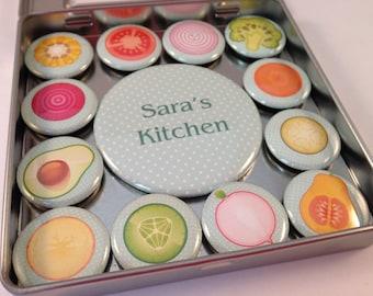 Personalized Kitchen Magnet Set