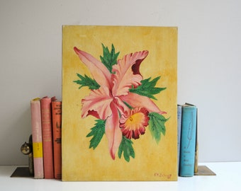 Vintage Original Signed Floral Painting