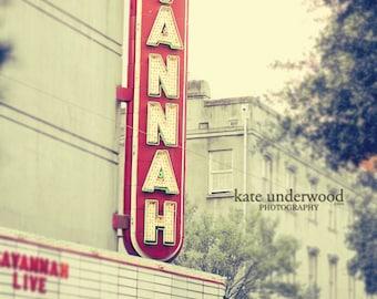 Photography, Savannah, Georgia Photography, Savannah Theatre Photo, Vintage Theatre Photo, Fine Art Savannah Print