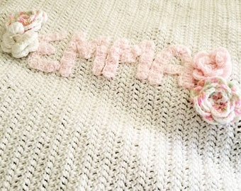 Customized Crochet Baby Blanket