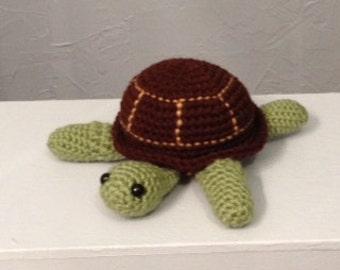 Crocheted Turtle - Amigurumi - turtle plushie - stuffed turtle