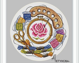 Cross Stitch favorite embroidery - Modern Cross Stitch Pattern PDF - Instant download