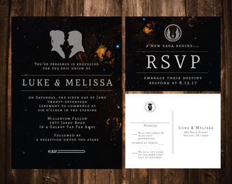 Star Wars Wedding Invitations; Star Wars; Wedding Invitations