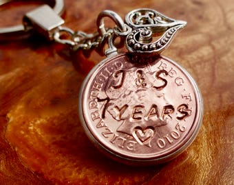 7th wedding anniversary gift 2011 husband gift wife valentines gift for him for her gift copper coin gift 100% guaranteed satisfaction