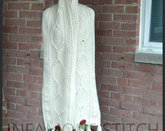 Cabled Holly Super Scarf Pattern