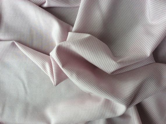Cotton poplin, antique pink check weave