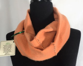 Infinity Cashmere Wool Scarf made from an upcycled sweater