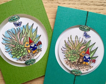 Terrarium Ornament Spinner Cards