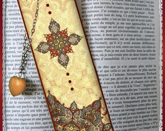 """Laminated bookmarks """"Arabesque"""" bookmark, gift"""