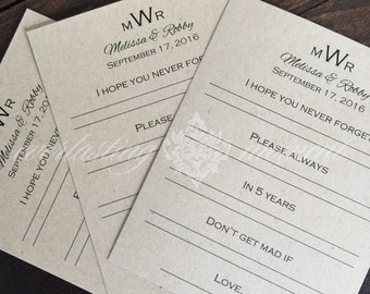 Marriage Advice Cards - Words of Wisdom - Guestbook Alternative - Well Wishes- wedding advice cards - Advice for the Mr. and Mrs.