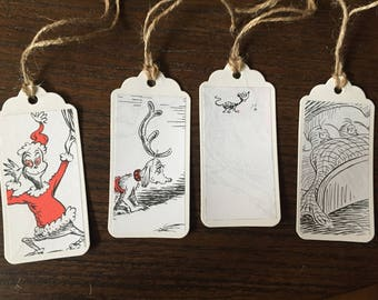 Dr. Seuss How the Grinch Stole Christmas Gift Tags for Gift Wrapping