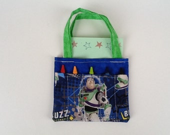 Buzz Lightyear Children's Crayon Bag and Customized Paper / Birthday Party Favor