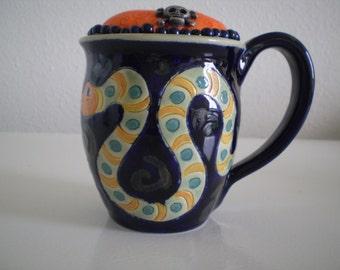 Serpent Coffee Mug Pincushion