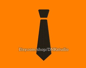 Tie Necktie Embroidery Design - 6 Sizes - INSTANT DOWNLOAD