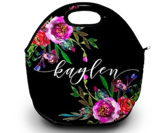 Monogrammed Lunchbox, Monogram Lunch Bags Insulated Neoprene, Monogram Lunch Bag, Personalized Lunch Tote, Design Your Own