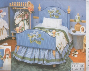 Linda Carr Doll Bedroom Furniture Sewing Pattern   Vogue 9352,  Uncut