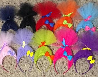Trolls Headband, Poppy Troll Headband, Princess Poppy Headband, Trolls Costume, Poppy Birthday, Trolls Hair Accessories