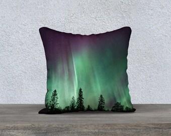 """Aurora Borealis 18""""x18"""" Pillow Case"""