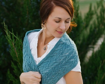Alpenglow Cowl Knitting Project Kit - Contains: PDF Pattern and One Skein of Hand Dyed Zeta Polwarth Wool Silk Yarn in Colorway of Choice