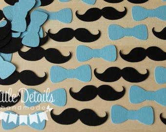 Mustache and Bowtie table confetti