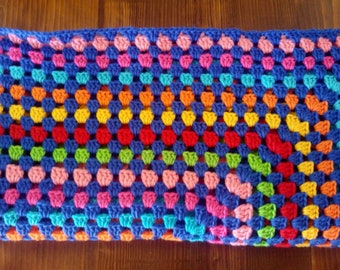 Handmade crochet blanket