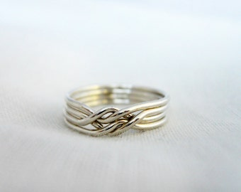 Puzzle Ring - 925 Sterling Silver