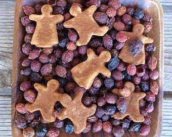 Rustic Gingerbread Saltdoughs, Grubbied, Farmhouse Decor, Christmas Decoration, Bowl Filler, Gingers, Gingerbreadman, Potpourri Add-in
