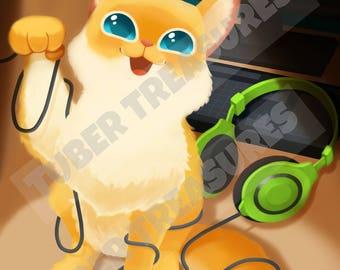 Pewdiepie as a Cat