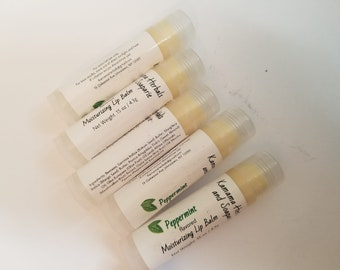 Peppermint Essential Oil Moisturizing Lip Balm