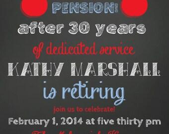 Retirement Party Invitation teacher