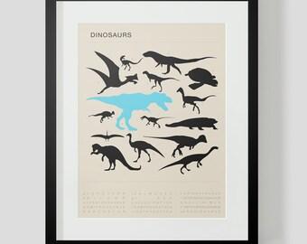 Dinosaur Poster 2 Choose Custom Colors