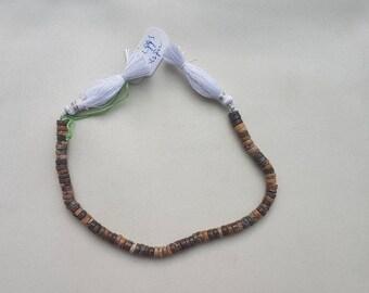 """3 strands of BIGGS JASPER rondelle beads 4-6mm 8"""""""
