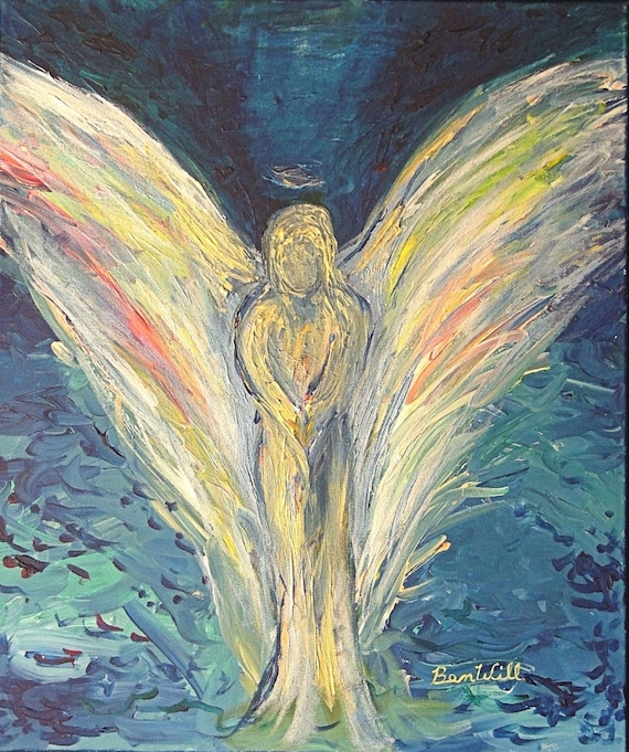Angel Inner Reflection Vision of Angels Print of an Original Painting by artist BenWill